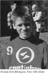 Erik vid Skol-SM 2000 i Eskilstuna. Ur TFS nr 8 2000.